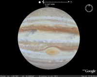 Jupiter timelapse animation in Google Earth