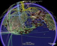 All Routes from JFK, LAX, SFO, MIA, ORD - in Google Earth
