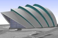The Armadillo, SECC, Glasgow, SketchUp Model