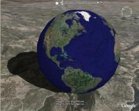 Bouncing Google Earth Model