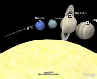 Complete Solar System Displayed in Google Earth