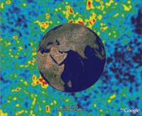 Cosmic Microwave Background Radiation (CMBR), in Google Earth