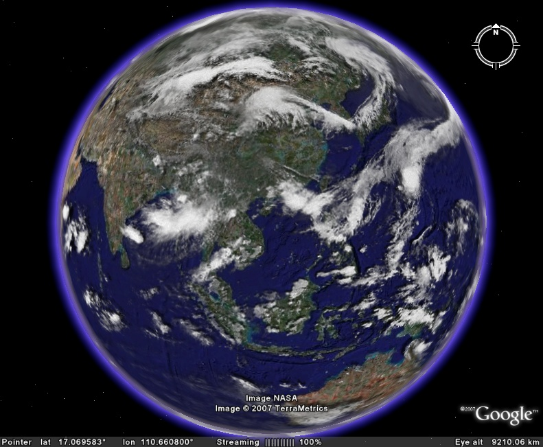 Google earth visualizationgoogle earth weather real time global global cloud layer in google earth gumiabroncs Choice Image
