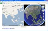 Google Earth and Google Maps Linked Together