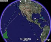 24 Hour GPS Satellite Animation, in Google Earth