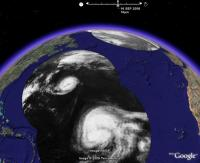 Atlantic Hurricane Season 2006, in Google Earth