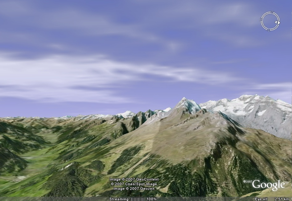 This Google Earth add-on displays a near live global cloud layer,