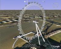 4D London Eye in Google Earth