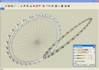 London Eye in Google SketchUp