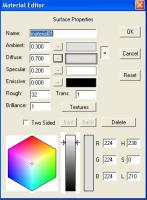 Anim8or Material Editor