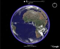January Weather in Google Earth