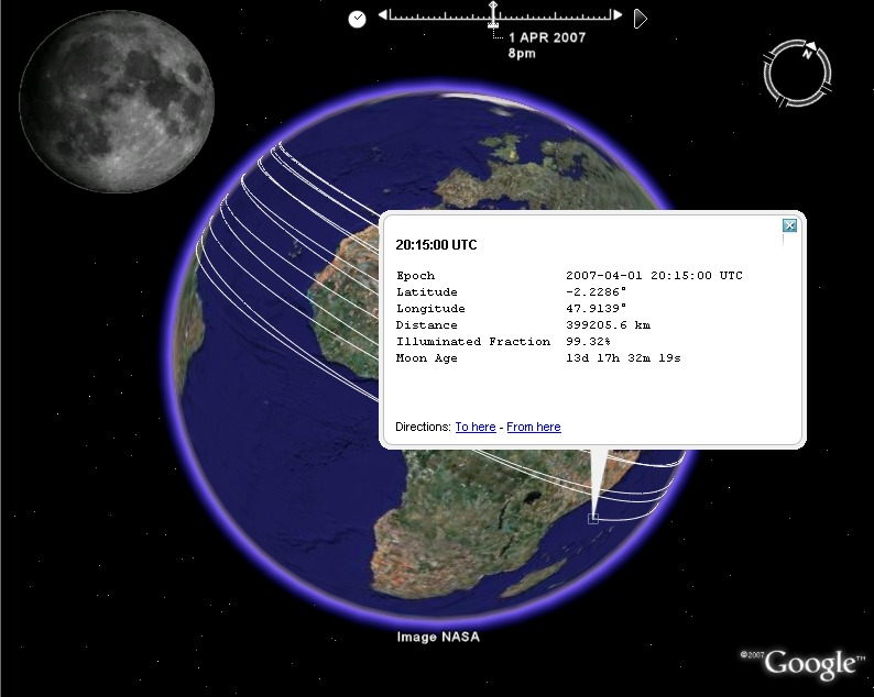 Google earth visualizationlunar position and phase in google earth lunar position in google earth sciox Images