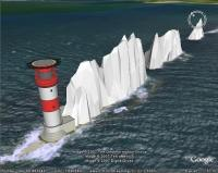 Needles Lighthouse, Google Earth, SketchUp 3D Model