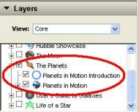 Planets in Motion - Google Earth Sky Layer