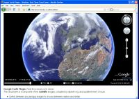Browser based, 3d real time global cloud coverage