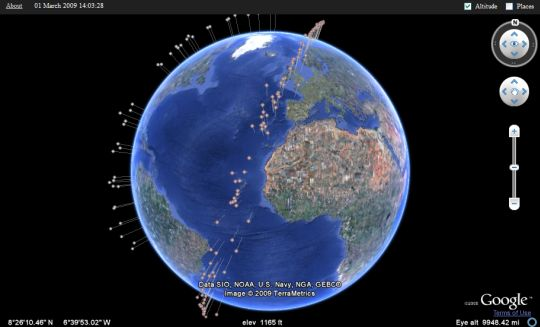 Click to view the live satellite debris tracker