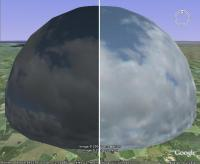 Left = Original Sky dome. Right = Edited version