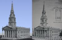 St Martin in the Fields, SketchUp vs Print Comparison