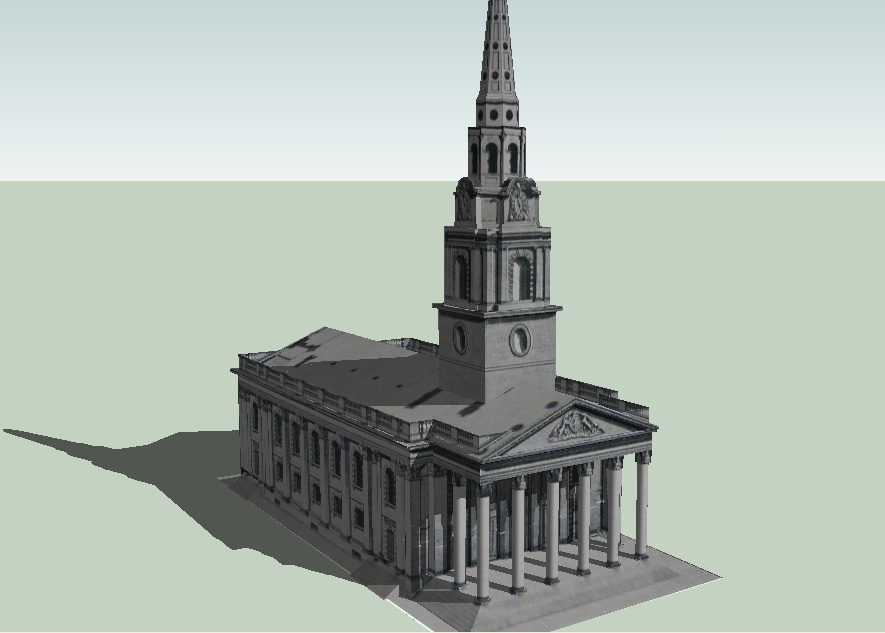 Google Earth Visualizationsketchup Models From Old Prints