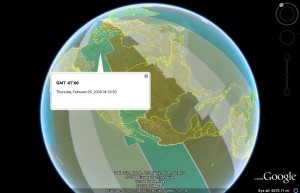 World Time Zone Clock in Google Earth 5