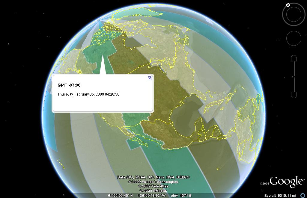 Google earth visualizationjavascript world time zone clock in google earth 5 gumiabroncs Images
