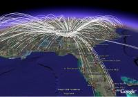 USA Flight Map: All Routes, All Airlines - Google Earth